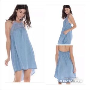 Cloth & Stone Chambray high-low sundress